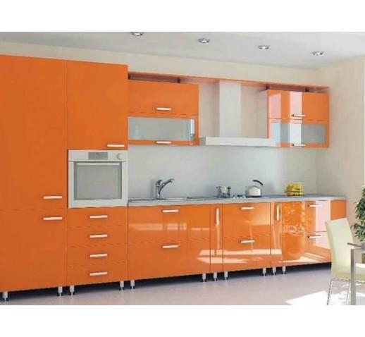 Кухня из МДФ оранжевая