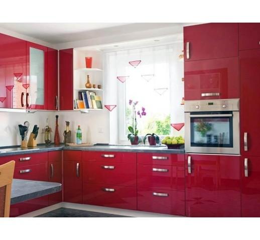 Кухня из акрила Красная