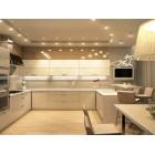 Кухня из акрила цвет бежевый