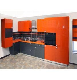 Кухни из акрила Оранжевая