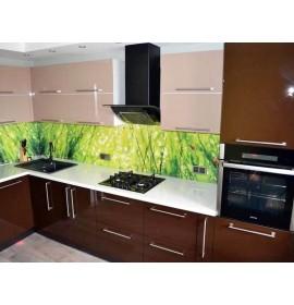 Кухня из акрила Коричневая
