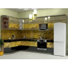 Кухня из панелей Альбико Апельсин