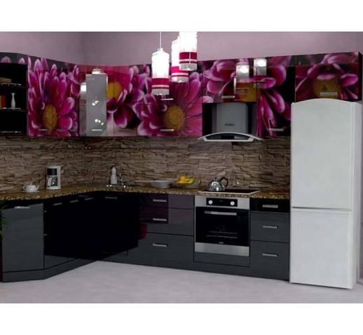 Кухня из панелей Альбико Цветы