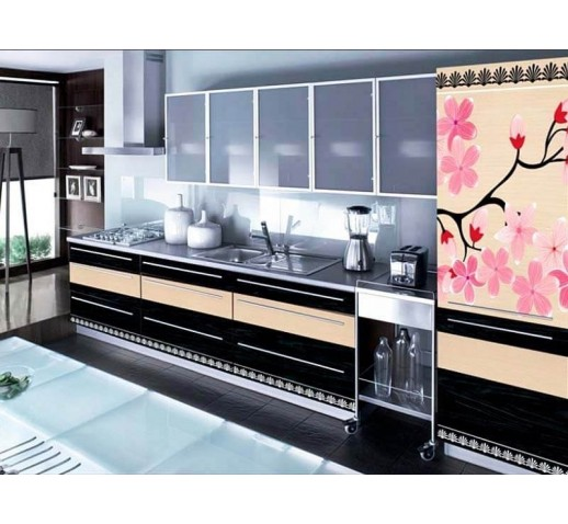 Кухня из панелей Альбико Сакура