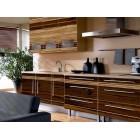 Кухня из панелей Альбико коричневая