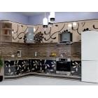 Кухня из панелей Альбико Бежевая