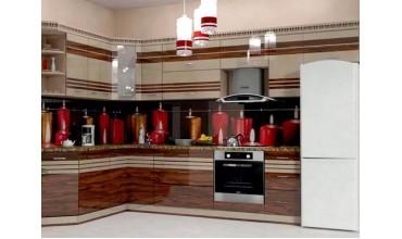 Кухни Альбико глянцевые панели