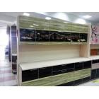 Кухня из панелей Альбико Зеленая