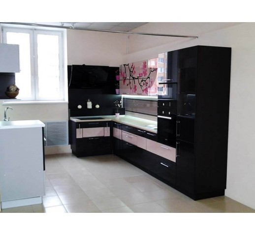 Кухня из панелей Альбико выставочный Сакура