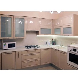 Кухня эмаль розовая
