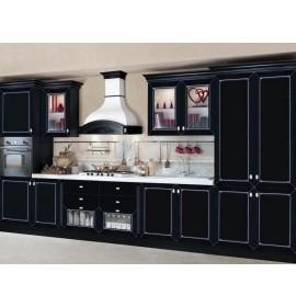 Кухня эмаль черная с патиной