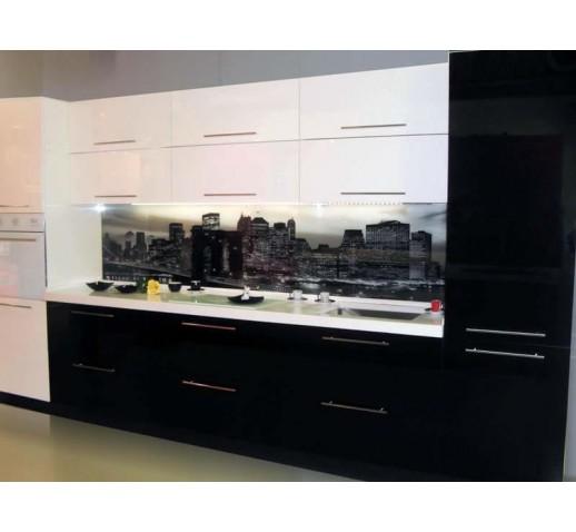 Кухня эмаль черная