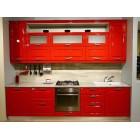 Кухня эмаль красная