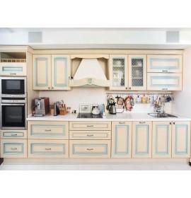 Кухня классическая с патиной голубая