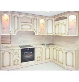 Кухня классическая с патиной белая