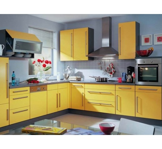 Кухни из ЛДСП желтая
