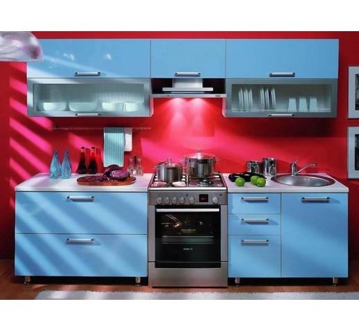 Кухни из ЛДСП голубая