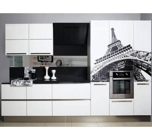 Кухня из МДФ матовая белая бланж