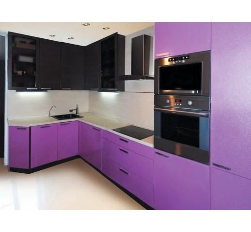 Кухня из МДФ фиолетовая