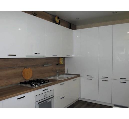 Кухня из МДФ снежный белый