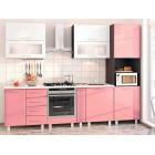 Кухня из МДФ розовая