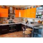 Кухня пластик оранжевая глянец