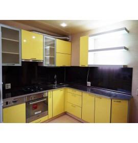 Кухня пластик лимонная глянец