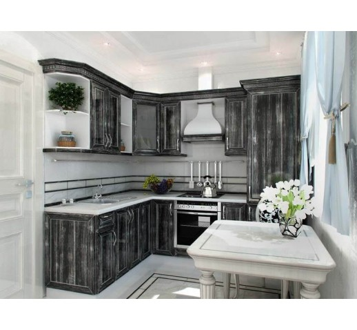 Кухня шпон черная