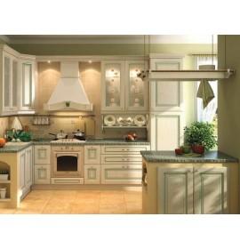 Кухня шпон зелень